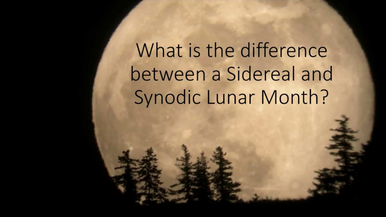 Download Sidereal and Synodic Months Explained