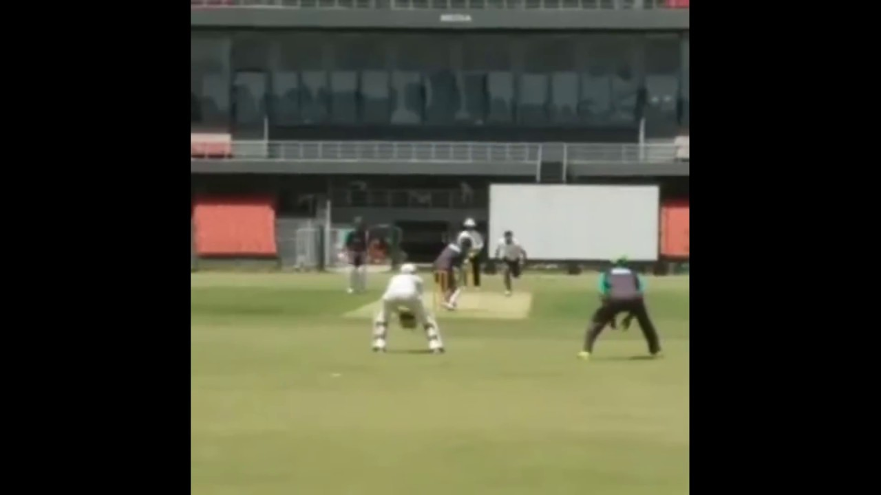 Mohammad Amir bowling Action in real speed, Practice
