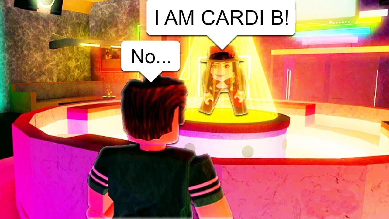 Gross Girl Thinks She S Cardi B In Roblox Youtube