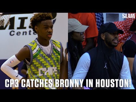 LeBron James Jr. Shows Off for CP3 in Houston!!!