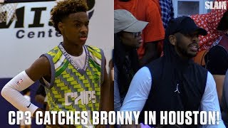 Bronny James Shows Off for CP3 in Houston!!!