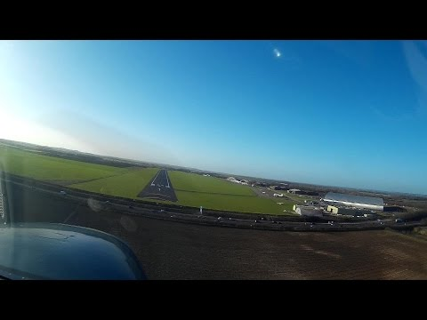 Flying Visit to Imperial War Museum Duxford, downwind join for Rwy 24