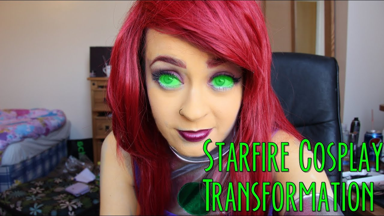 Starfire Cosplay Transformation