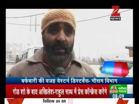 Heavy snowfall continues in Kashmir valley and other parts of J&K