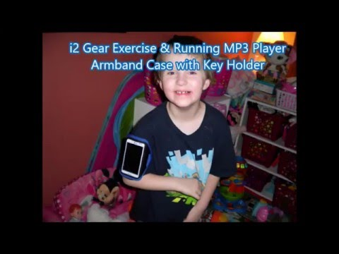 Demo: i2 Gear Exercise & Running MP3 Player Armband Case with Key Holder #ipodtoucharmband