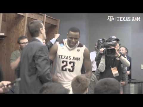 Texas A&M Basketball | Locker Room Celebration 3.20.16