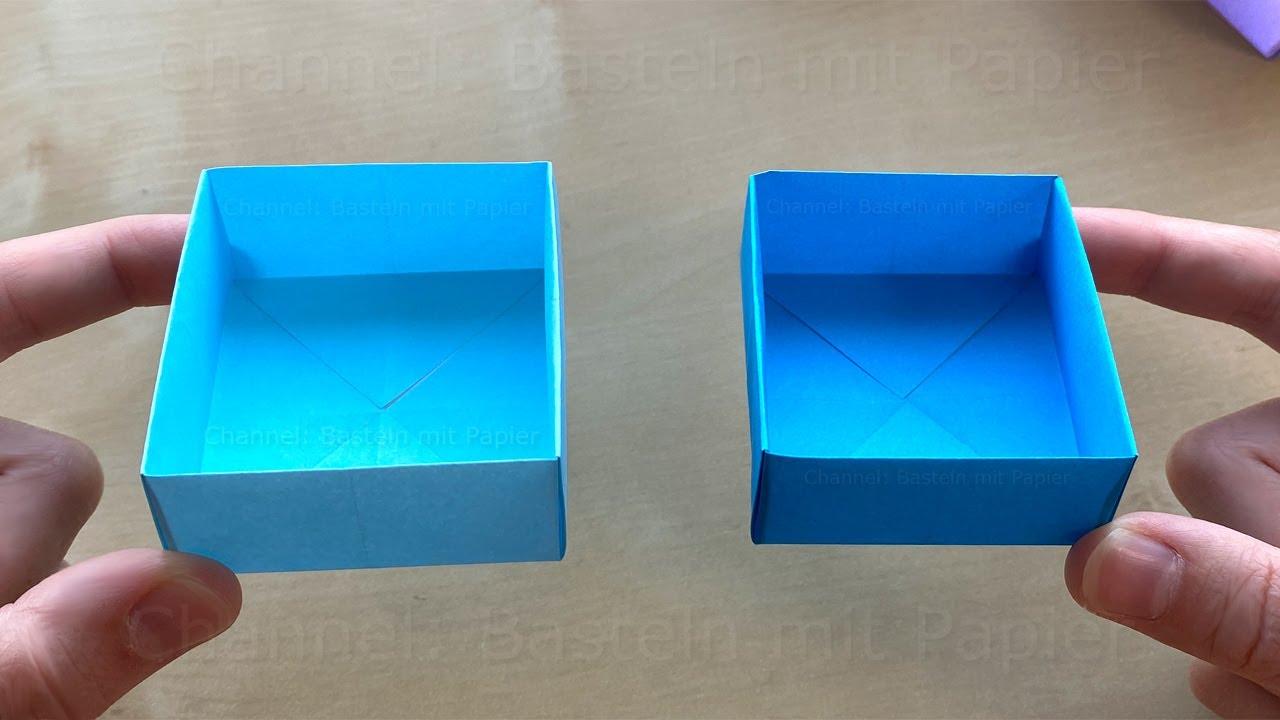 Origami Box: Schachtel basteln mit Papier - Box falten als Geschenk oder Geschenkverpackung