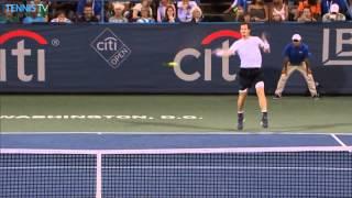 Andy Murray Hot Shot Volley Washington 2015
