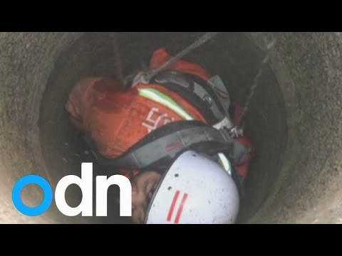 Child stuck in China: Six-year-old girl rescued after falling in a well