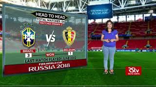 FIFA World Cup Stats Zone: Head-to-head: Brazil vs Belgium