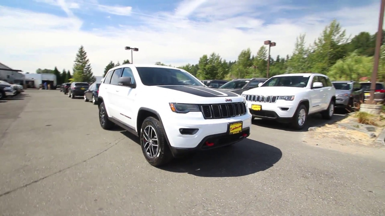 2018 jeep grand cherokee trailhawk. brilliant trailhawk 2018 jeep grand cherokee trailhawk 4x4  bright white clear coat jc104396  redmond seattle on jeep grand cherokee trailhawk