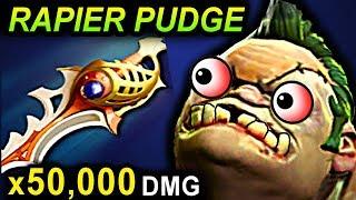 RAPIER PUDGE - DOTA 2 PATCH 7.07 NEW META PRO GAMEPLAY