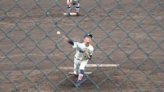 2019/7/9 佐藤雄人 (前橋商業高校) 3年生 富岡高校戦 1イニング