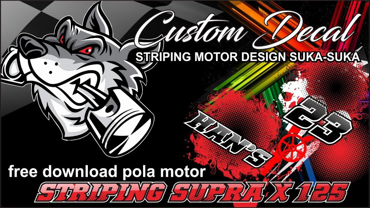 Striping Supra X 125 Free Download Pola Striping Motor Konsep Grunge