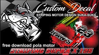 Video Striping Supra X 125 + Free Download Pola Striping Motor - Konsep Grunge download MP3, 3GP, MP4, WEBM, AVI, FLV Juni 2018