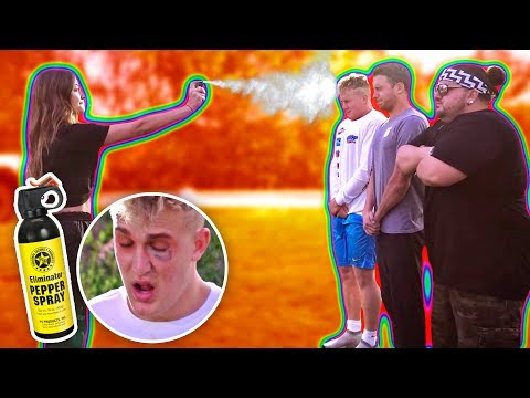 THE WORST PAIN OF MY LIFE.. {PEPPER SPRAY CHALLENGE}