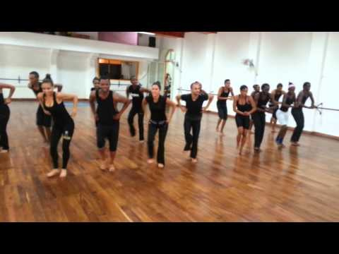 Rehearsal Casino (with orishas) and Rueda July 2014, Conjunto Folklorico Nacional de Cuba