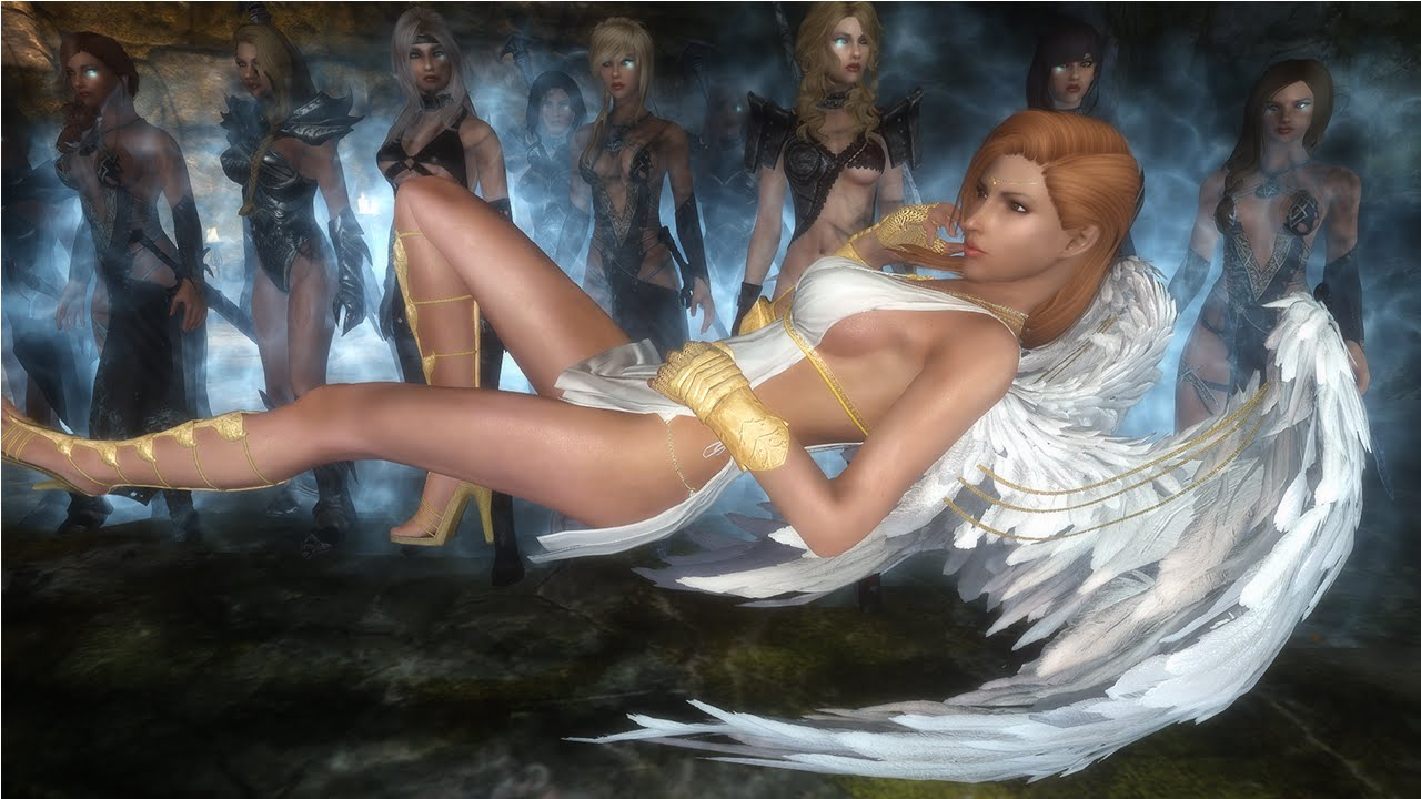 Skyrim Mod Review 77 - Hateful Wenches, Godly Angel Armor