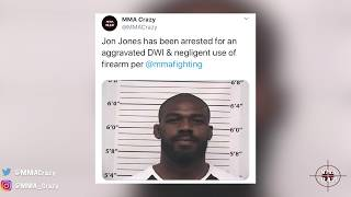 MMA Pros React to Jon Jones latest Arrest for DWI & firearm Charge
