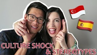 SINGAPORE AND SPAIN: CULTURE SHOCK & STEREOTYPES | AMWF COUPLE (SUB ESP)
