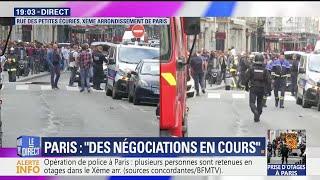 Prise d'otages à Paris: un engin de déminage est sur place