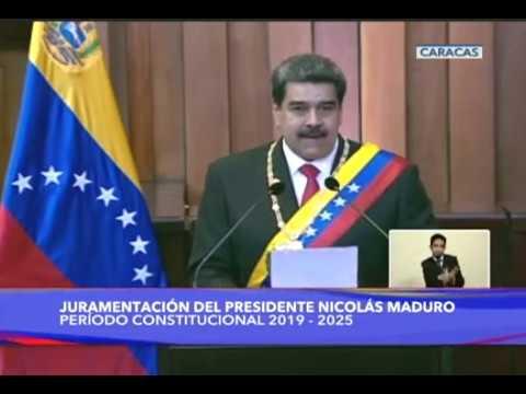 Discurso completo de Nicolás Maduro tras ser juramentado como Presidente 2019-2025