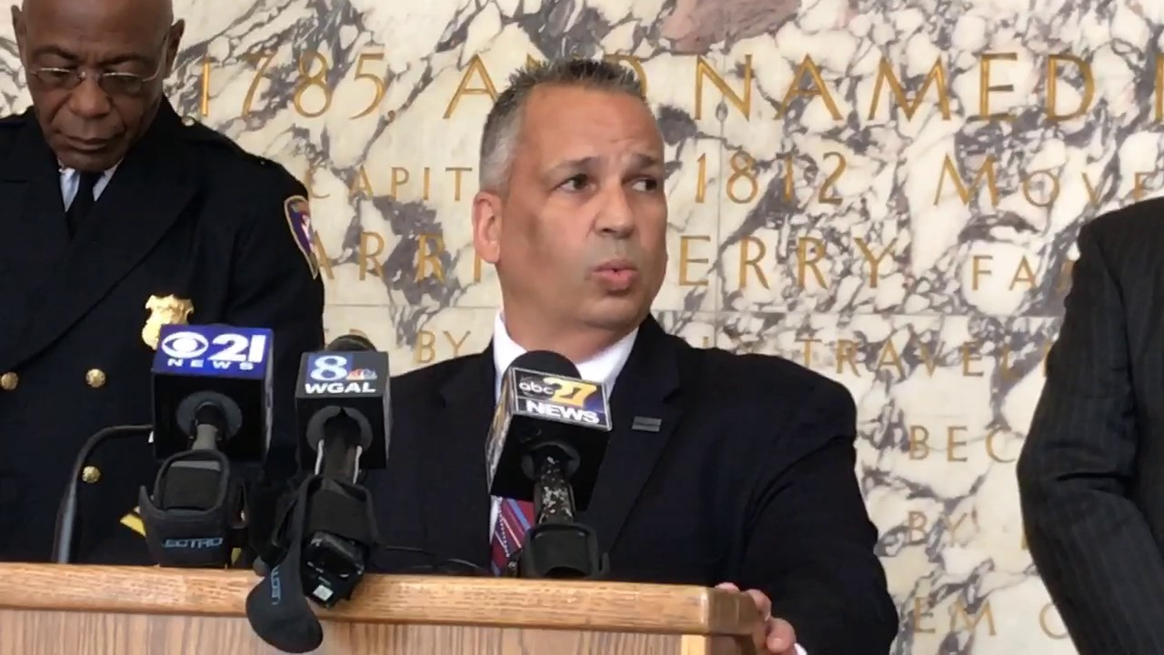 Dauphin County Sheriff Nick Chimienti announces fugitive effort