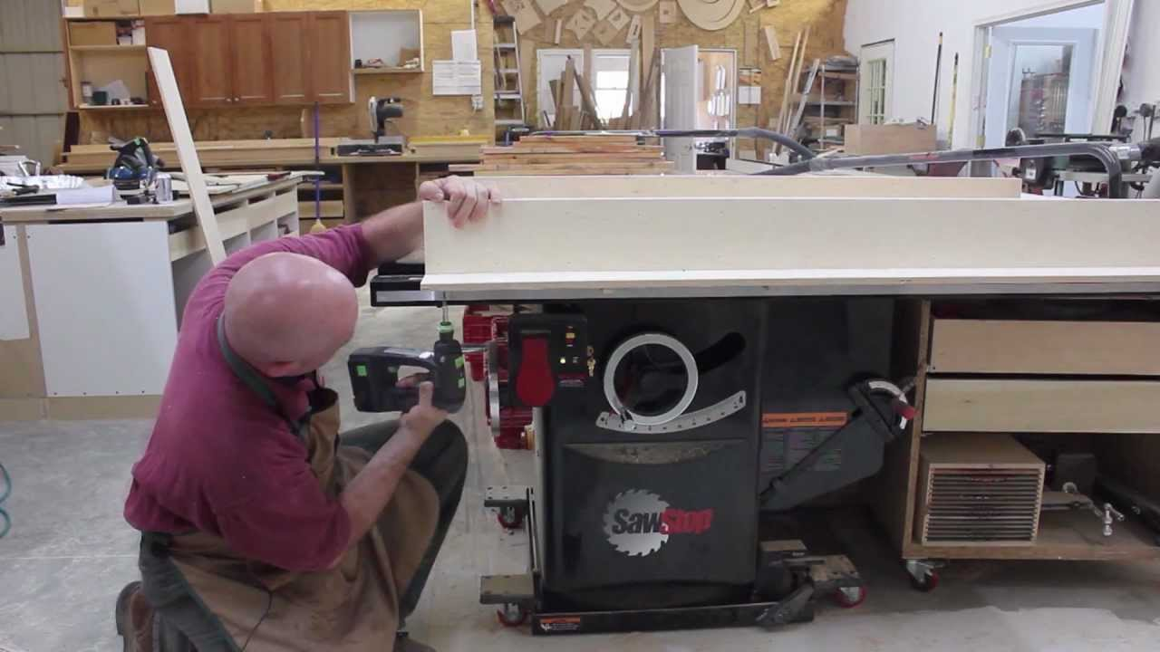 Making A Crosscut Sled For Your Sawstop Table Saw Youtube