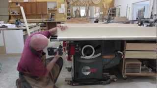 Making A Crosscut Sled For Your Sawstop Table Saw