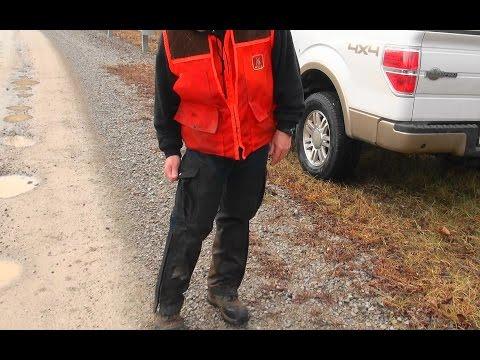 Skyview's Beagles  Ron Asbury Testing Mule Hunting Pants.
