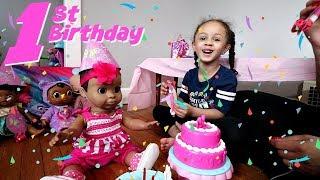 Luvabella's 1st Birthday!! Kids Pretend Play