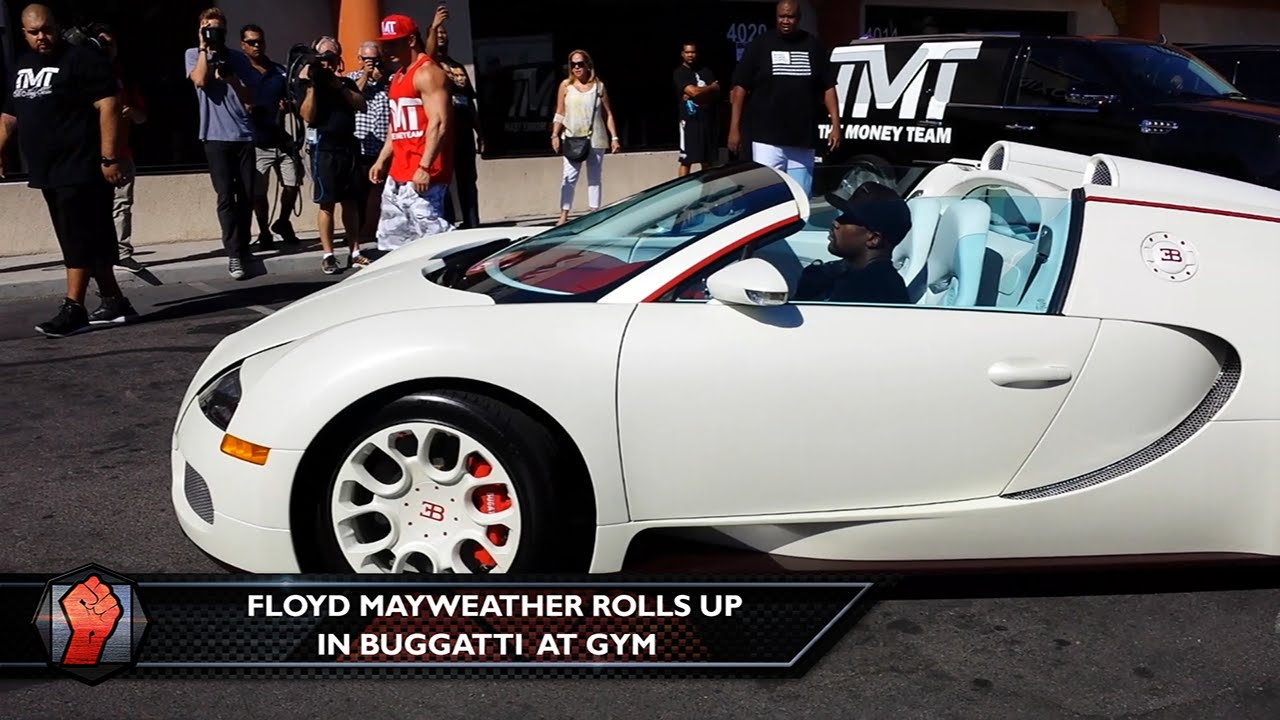 Floyd Mayweather Rolls In A Fleet Of Bugatti S To The Gym