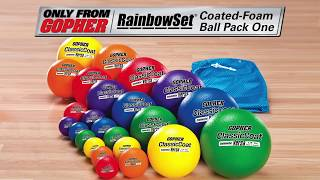 24 Rainbow Ball Pack in Multiple Sizes