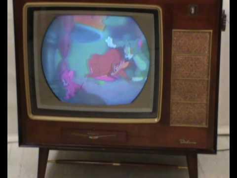 Historic Color Tv Rca Ctc-5 Deluxe  U0026quot Asbury U0026quot  From 1956