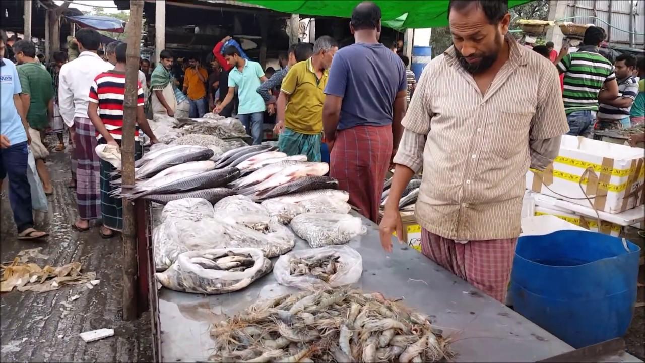 big fish market near dhaka city bangladesh huge fresh