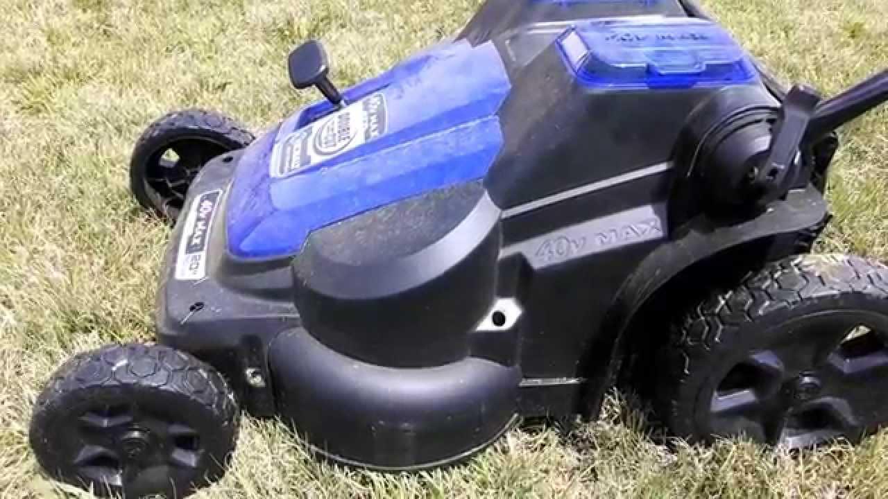 1 Month Update Cordless Kobalt 40 Max Lawn Mower Youtube