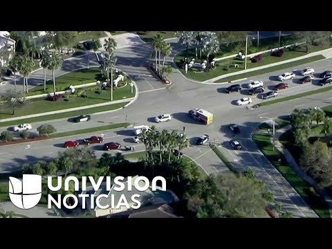 Reportan tiroteo en una escuela secundaria en Florida