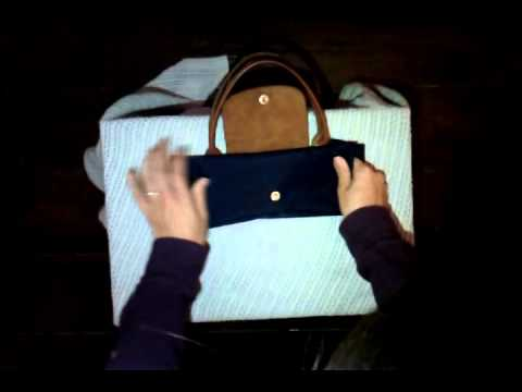 how to fold longchamp le pliage bag youtube. Black Bedroom Furniture Sets. Home Design Ideas