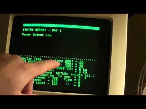 "Apple II Gaming; ""Nuclear Reactor Simulator"" (MECC, 1986)"