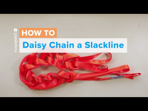 How to Daisy Chain a Slackline | Simple and Easy Slackline Storage | by the YogaSlackers