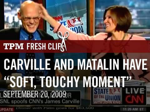 """Carville and Matalin Have a """"Soft, Touchy Moment"""" on CNN"""