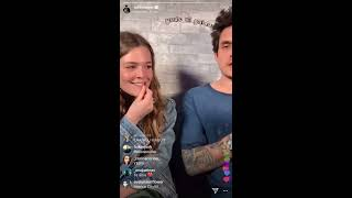 """Maggie Rogers and John Mayer on Instagram live """"current mood"""""""
