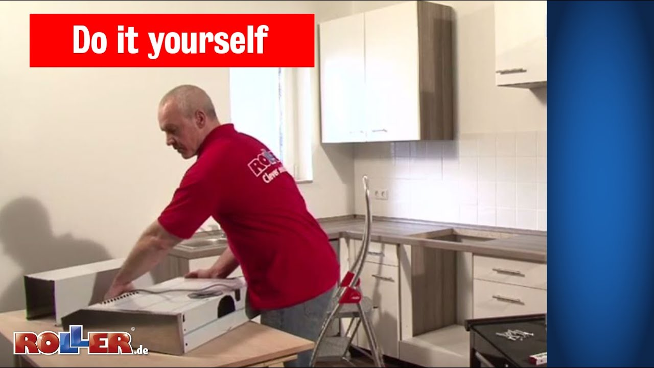 Kuchen Elektrogerate Montieren Roller Do It Yourself Youtube