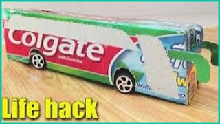 How to Make Bus of Paper Easy - Colgate - DIY at Home - Life Hacks