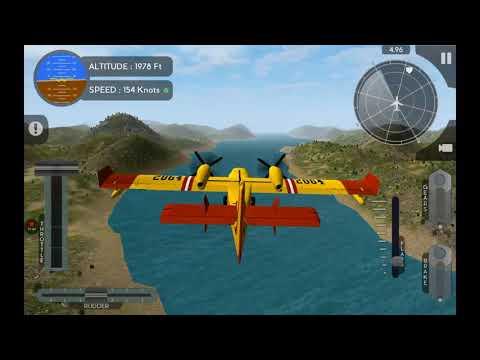 Transporting Goods | Canadair CL415 | Avion Flight Simulator | Realistic mode | aeroplane sim