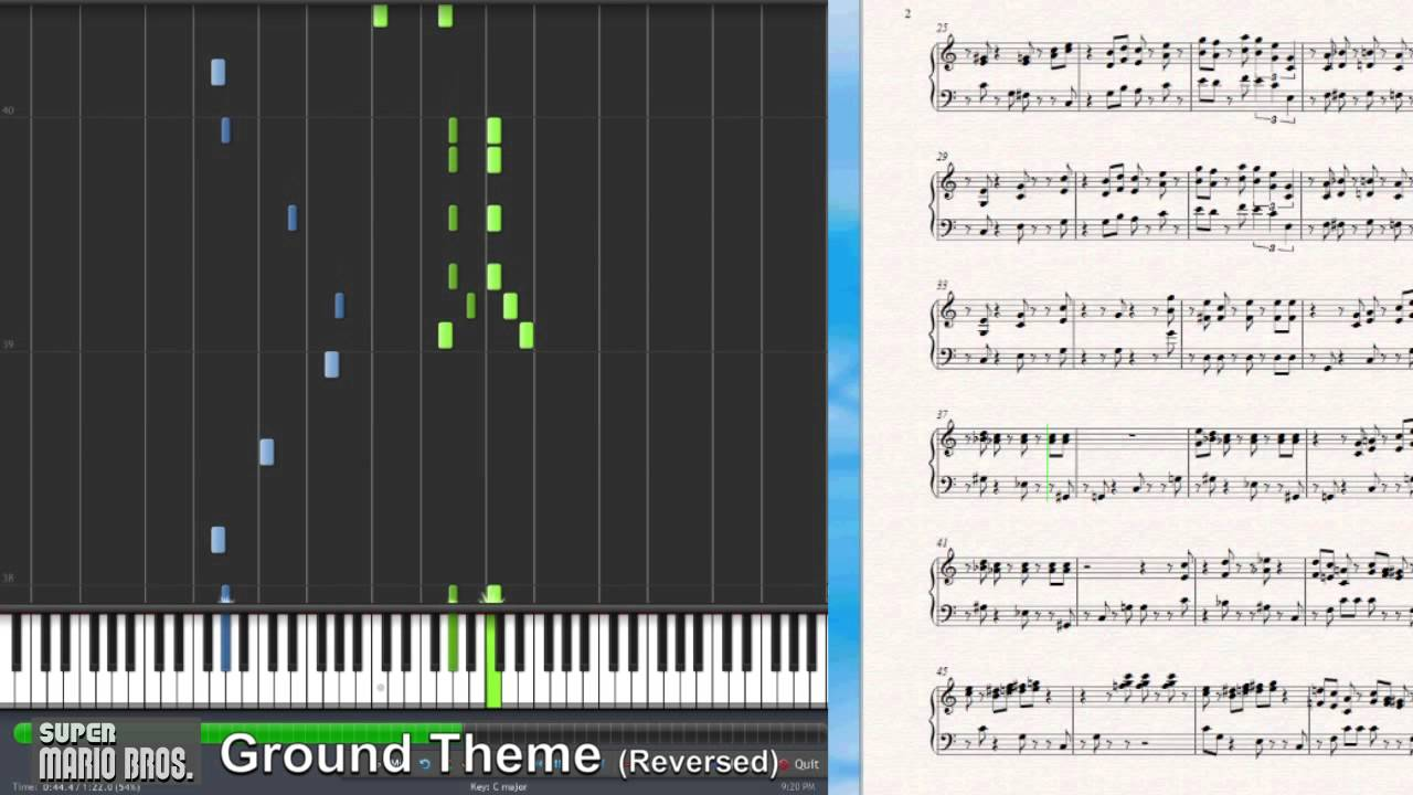how to play mario piano theme