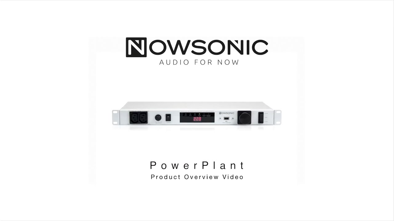 Nowsonic Powerplant 19quot Rack Mount Power Conditioner And