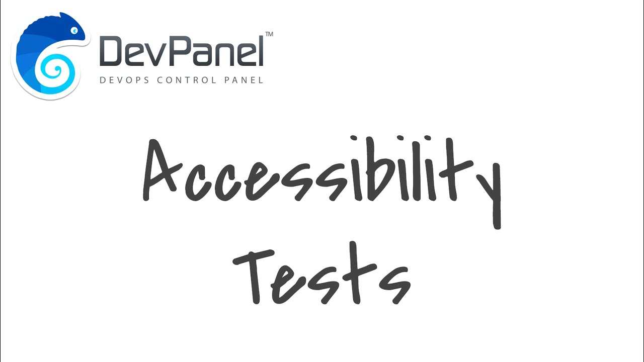 DevPanel Accessibility Tests