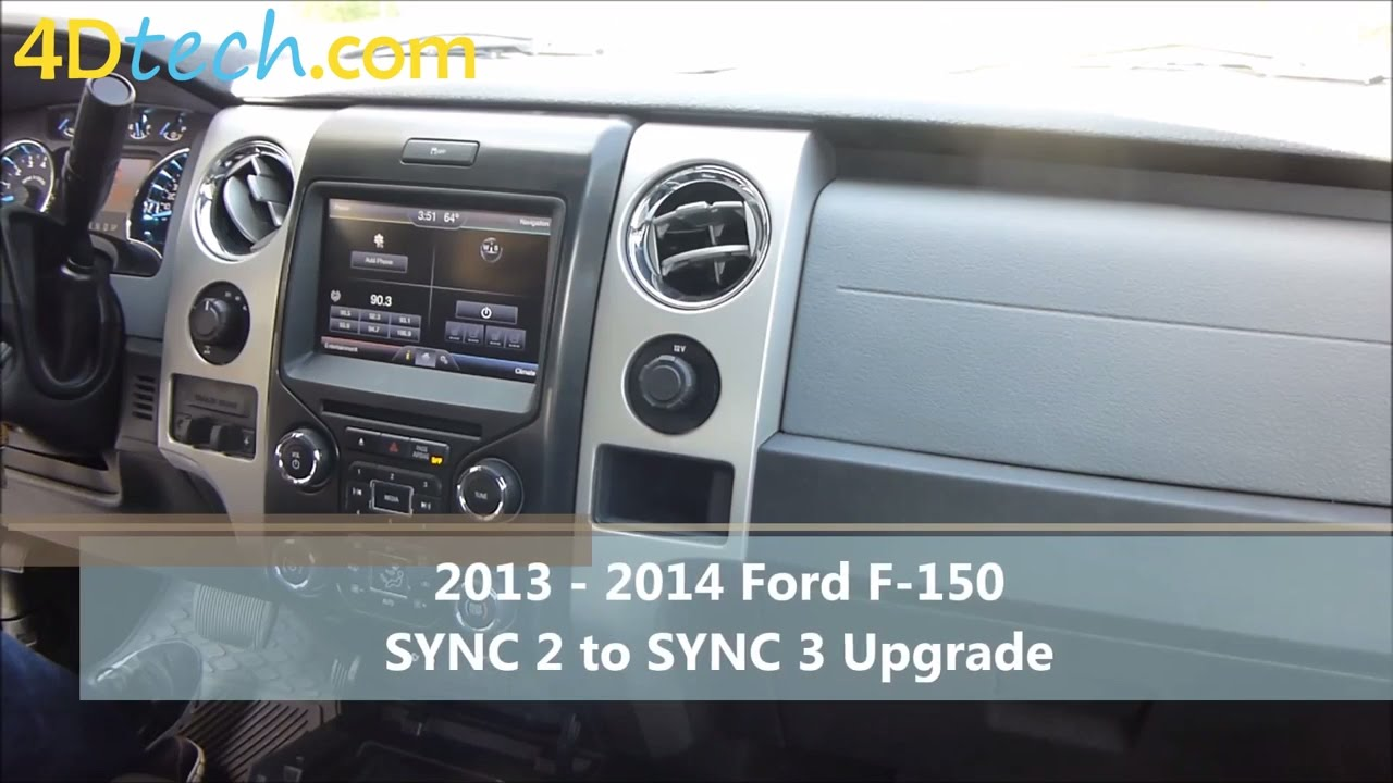 sync 2 to sync 3 upgrade 2013 2014 ford f 150 [ 1280 x 720 Pixel ]