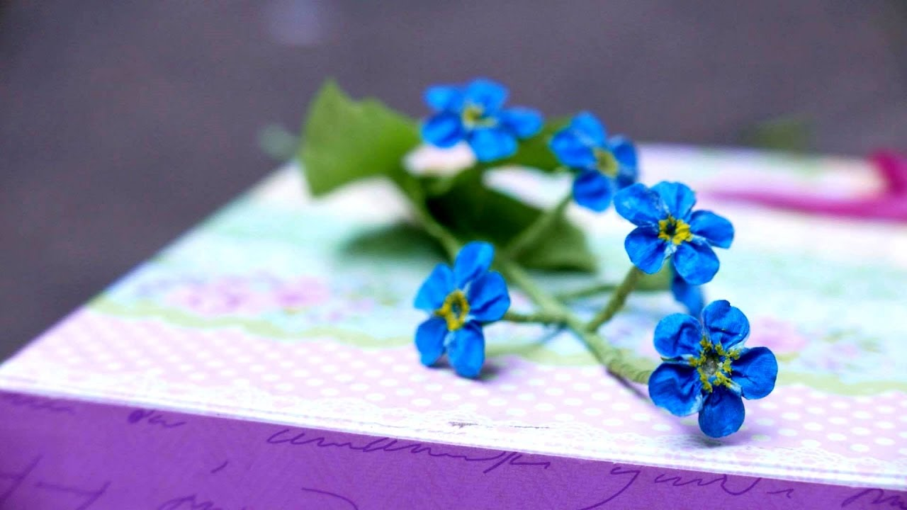 Diy How To Make Forget Me Not Flower By Crepe Paper L 224 M
